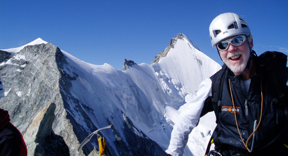 Climbing in the Swiss Alps