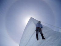 Ice climbing is also part of Alpinism