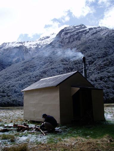 Makaroa hut in Mt Aspiring National Park