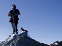Andrew on top of the Nadelhorn, Switzerland