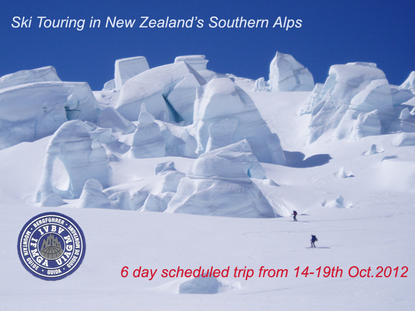 Back country ski touring in New Zealand