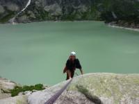 Rock climbing in Switzerland