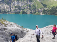 Oeschinensee Switzerland, guided trekking
