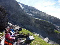 Guided trekking in the Swiss Alps