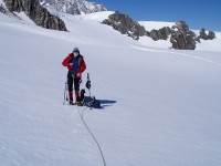 glacier travel with a mountain guide