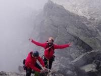 Rock ridge climbing, climbing course switzerland