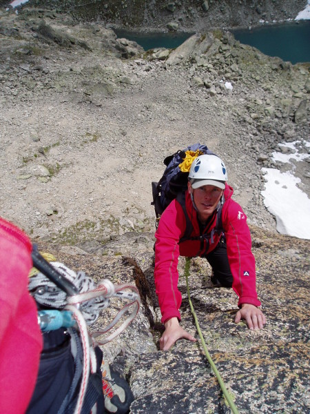 multi pitch climbing on swiss climbing course