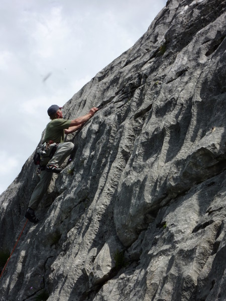 Leysin has all grades of rock climbing on superb rock