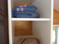 Towels and bed linen provided