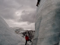 Iceclimbing in iceland
