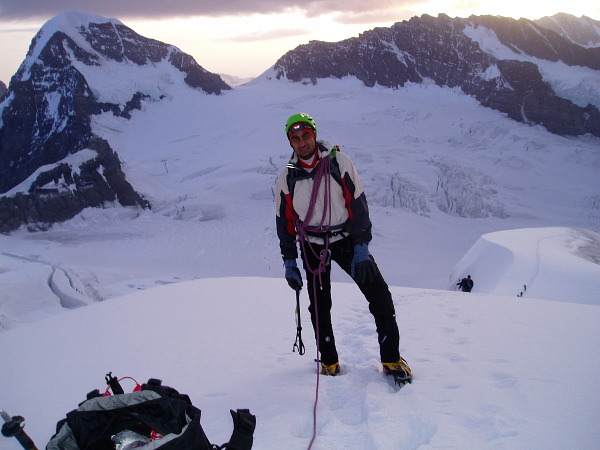 Halfway up the classic Jungfrau
