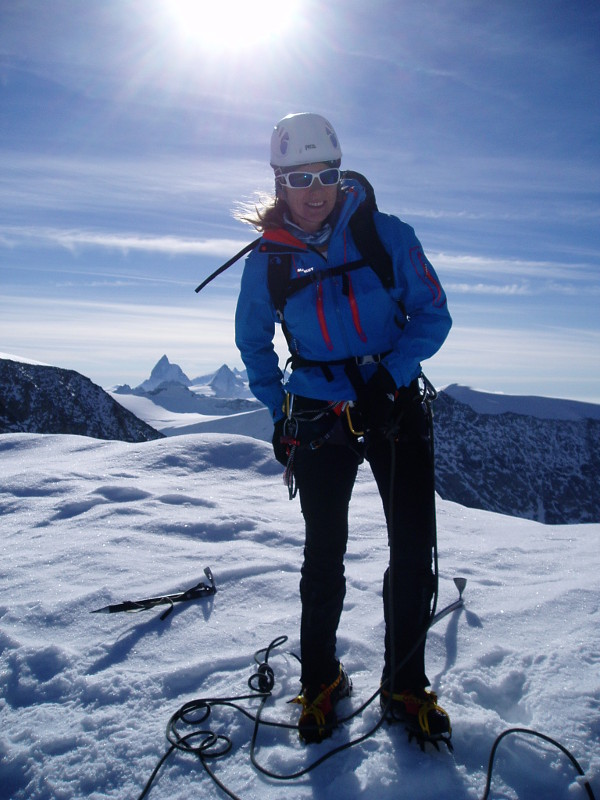Hi on Mt Blanc du Cheilon. Matterhorn in the background.