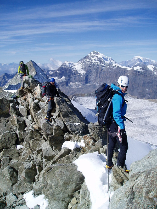 High on the Summit of Mt Blanc du Cheilon
