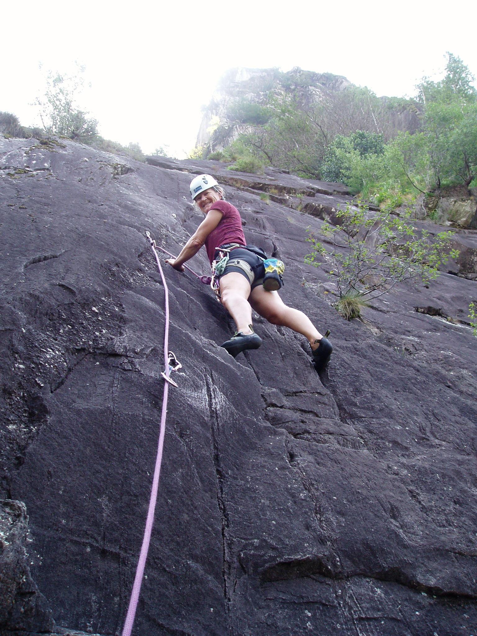 Swiss rock climbing