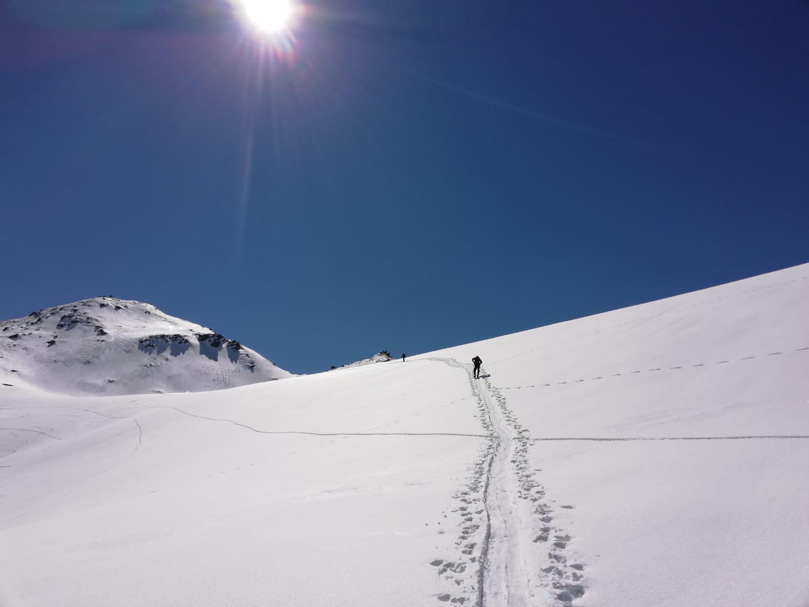 Fresh winter snow - September ski touring in NZ